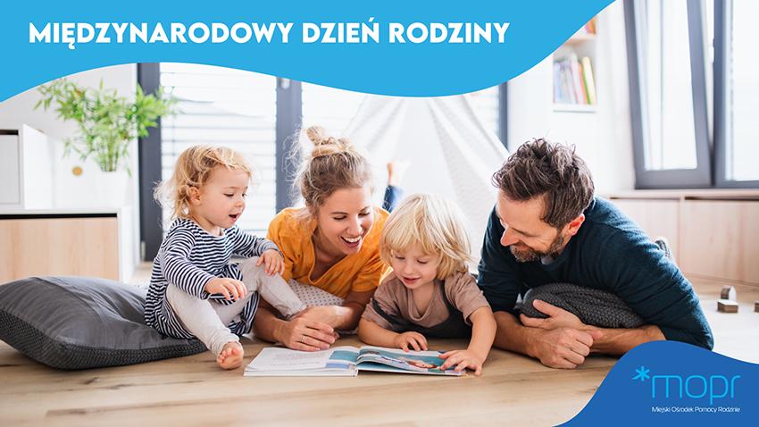 Grafika przedstawiająca rodzinę