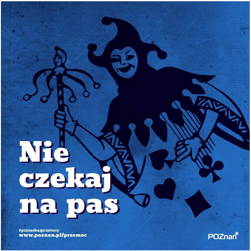Znak graficzny kampanii przeciw przemocy
