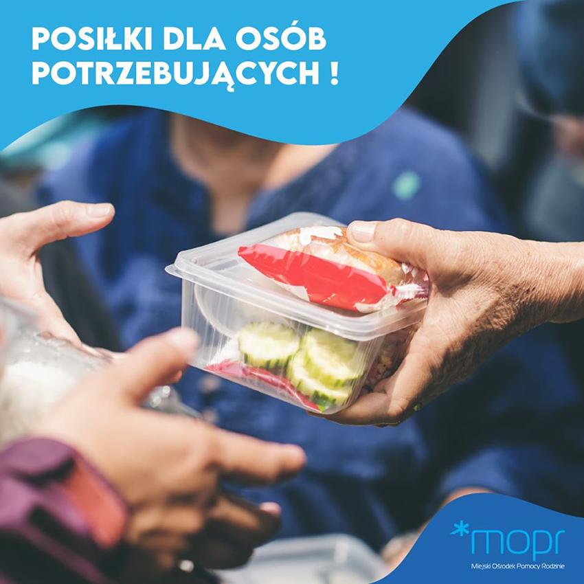 Grafika posiłki dla potrzebujących