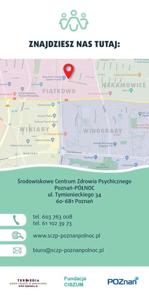 Ulotka oferty pomocy Środowiskowe Centrum Zdrowia Psychicznego Poznań-Północ część 2