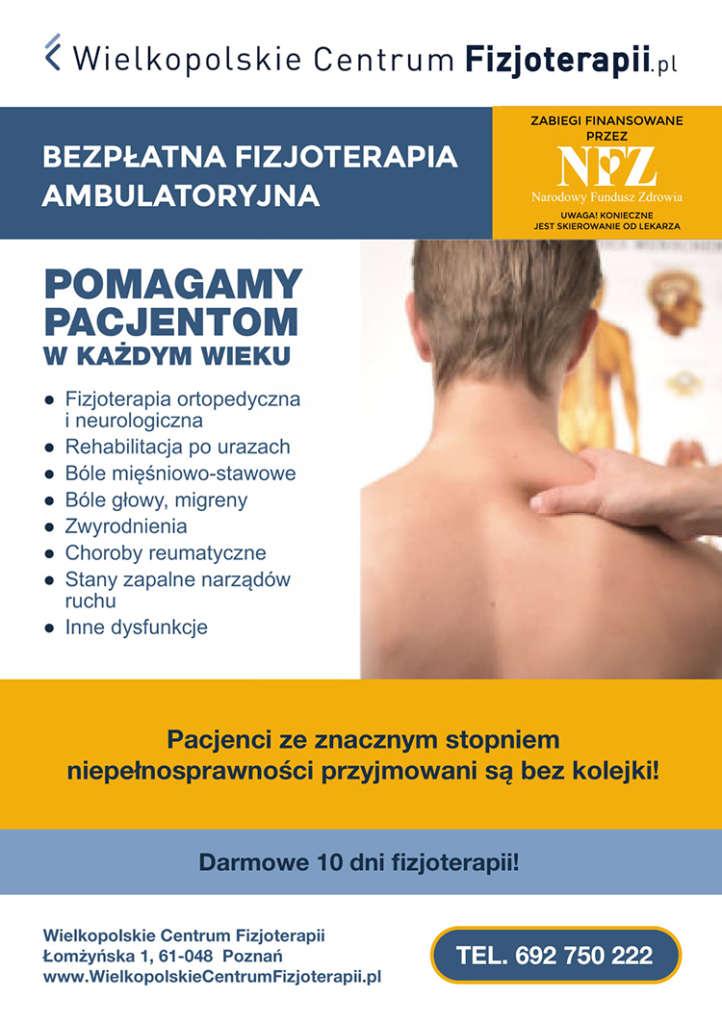 Ulotka fizjoterapii ambulatoryjnej
