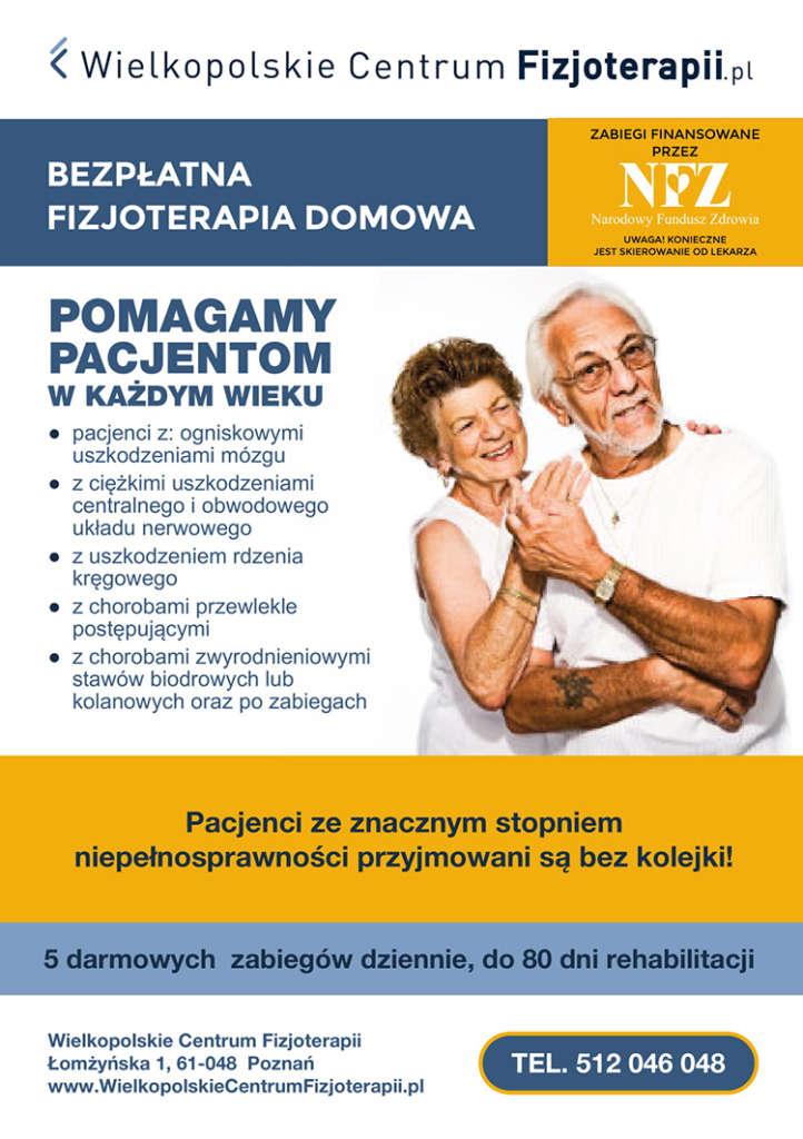 Ulotka fizojoterapii domowej