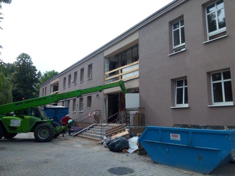Remont głównego budynku MOPR