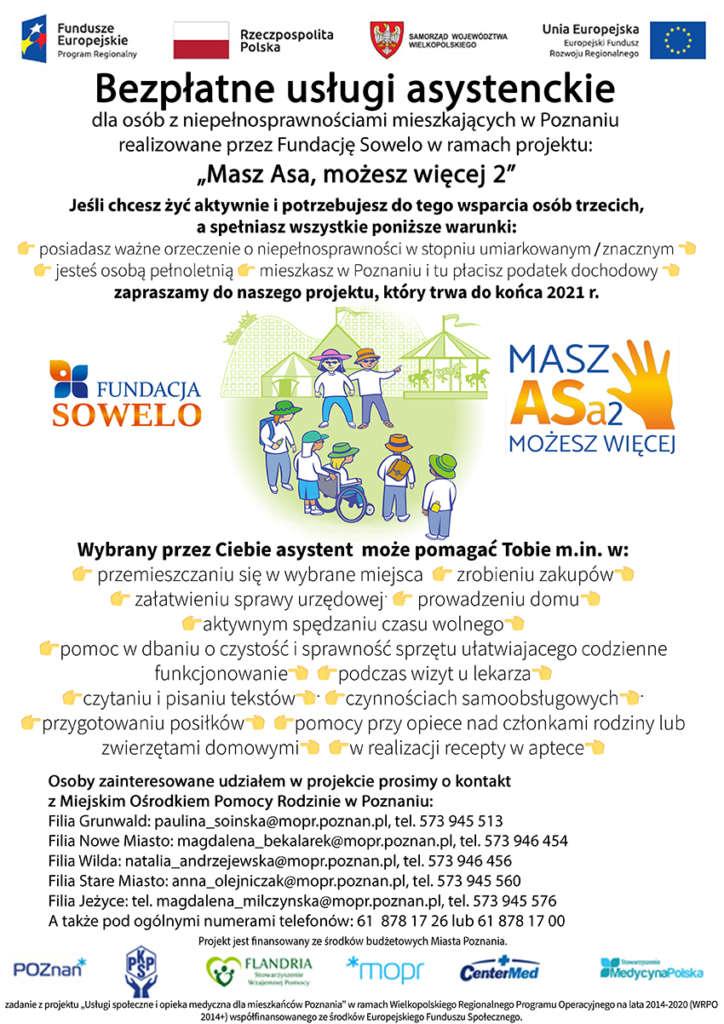 Plakat dotyczący usług Masz Asa 2